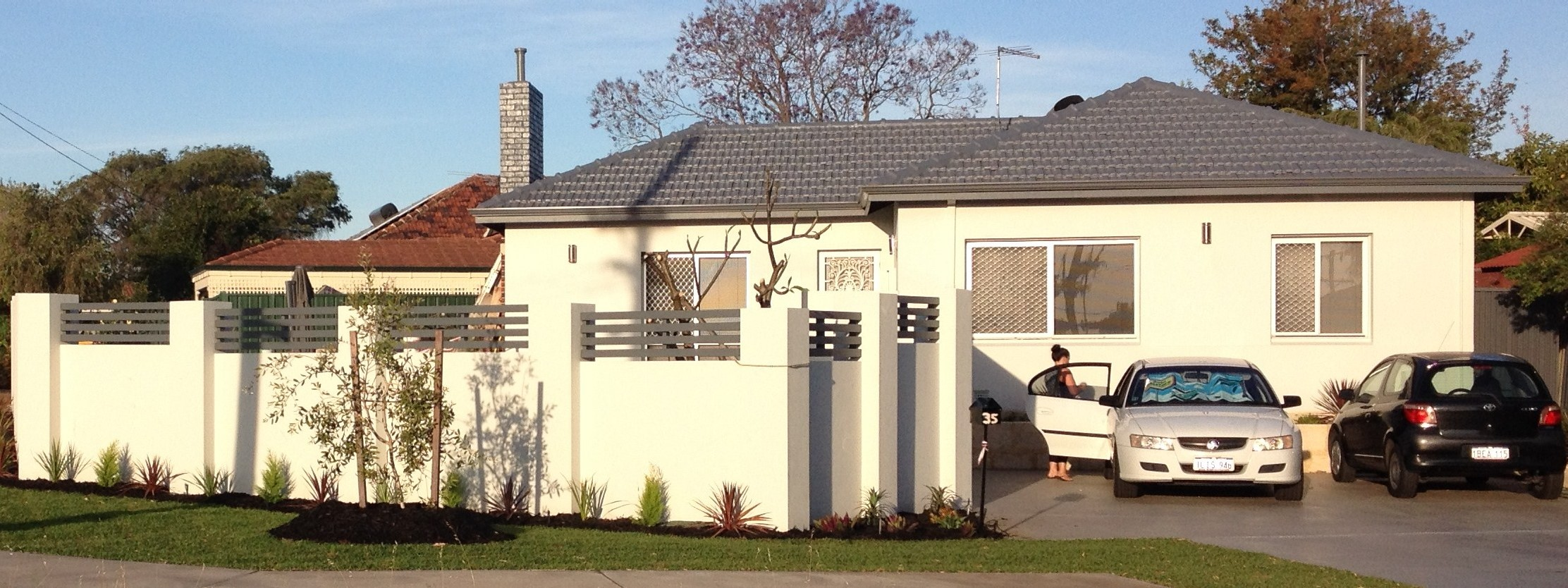 Freshly painted and residential home finished in light grey